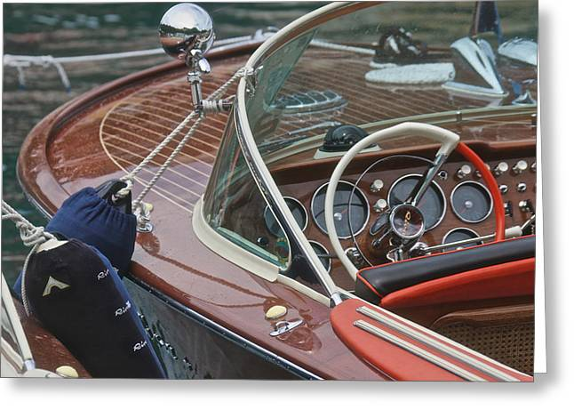 Mahogany Greeting Cards - Classic Riva Greeting Card by Steven Lapkin