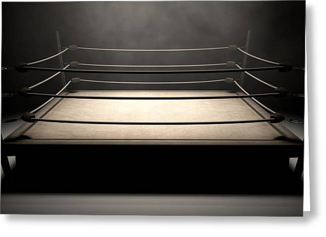 Boxing Rings Greeting Cards - Classic Vintage Boxing Ring Greeting Card by Allan Swart