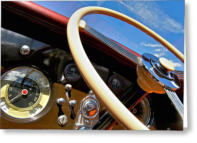 Mahogany Greeting Cards - Classic Wooden Runabouts Greeting Card by Steven Lapkin