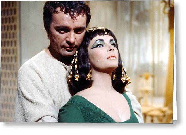 Burton Greeting Cards - Cleopatra  Greeting Card by Silver Screen