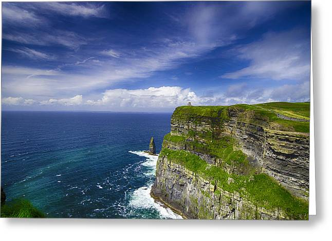 Cliffs Of Moher Greeting Cards - Cliffs of Moher  Ireland Greeting Card by Giovanni Chianese