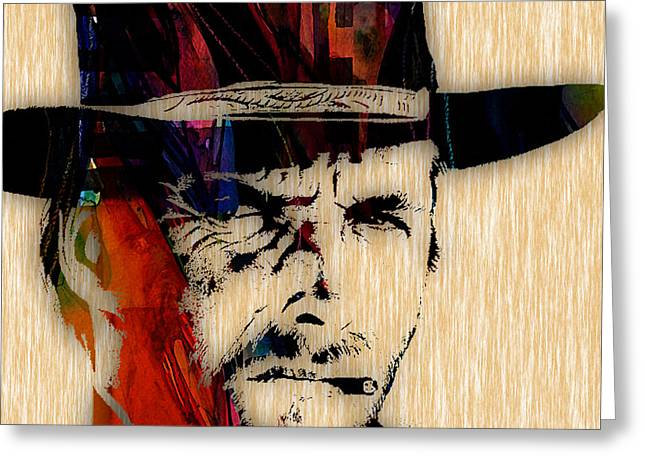 Cool Art Greeting Cards - Clint Eastwood Collection Greeting Card by Marvin Blaine