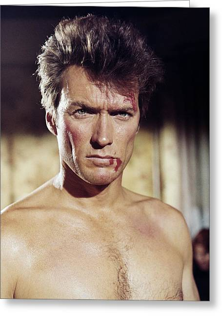 Coogan Greeting Cards - Clint Eastwood in Coogans Bluff  Greeting Card by Silver Screen