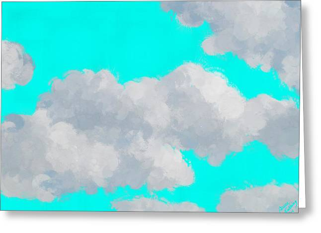 Blue Greeting Cards - Clouds Greeting Card by Bruce Nutting