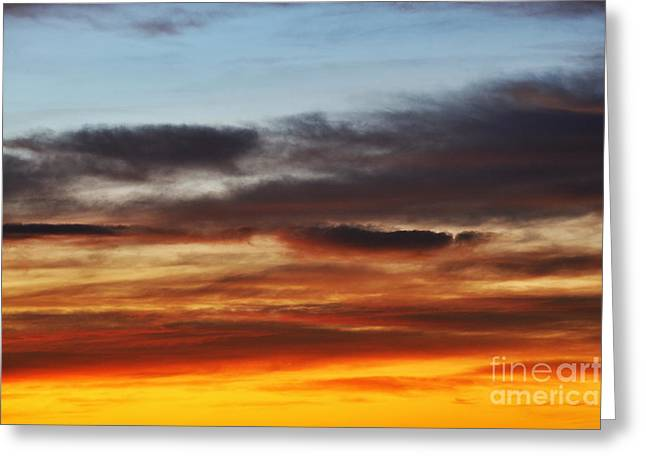 Sami Sarkis Greeting Cards - Cloudscape at sunrise Greeting Card by Sami Sarkis