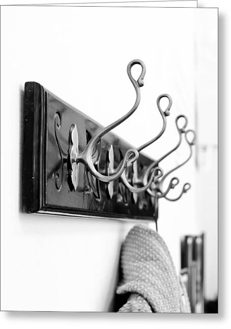 Rack Greeting Cards - Coat hooks Greeting Card by Tom Gowanlock