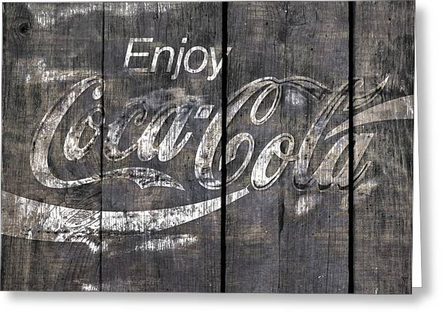 Coca Cola Sign Greeting Card by John Stephens