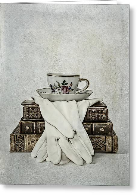 Coffee Table Greeting Cards - Coffee Time Greeting Card by Joana Kruse