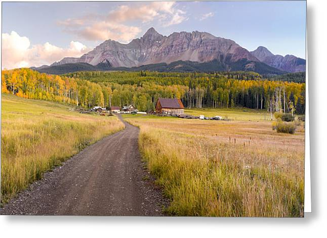 Schmid Greeting Cards - Colorado Mountain Ranch in Autumn  Greeting Card by Robert Ingelhart