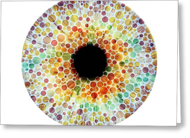 Blind Eyes Greeting Cards - Colour blindness, conceptual image Greeting Card by Science Photo Library