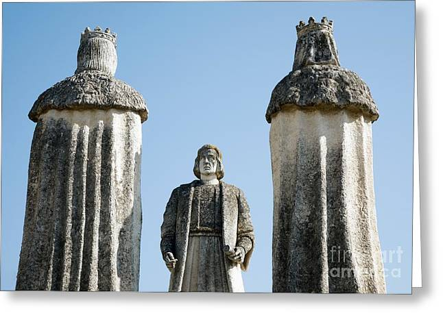 1400s Greeting Cards - Columbus Monument, Cordoba Greeting Card by Sheila Terry