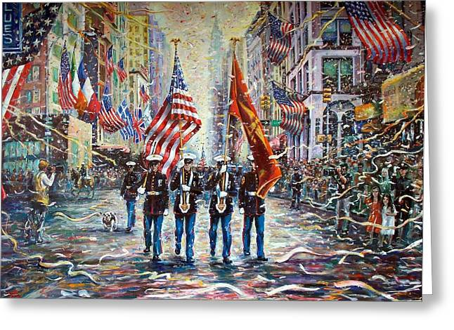 Marine Corp Greeting Cards - Coming Home  Greeting Card by Philip Corley