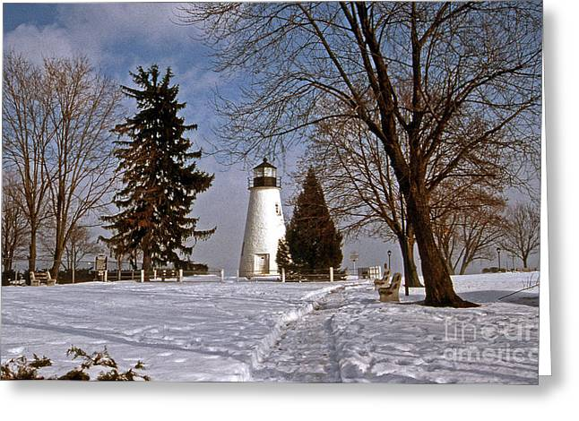 Concord Point Greeting Cards - Concord Point Lighthouse Greeting Card by Skip Willits