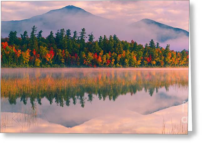 Acryl Greeting Cards - Connery Pond in Adirondack State Park Greeting Card by Henk Meijer Photography