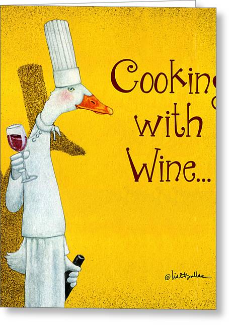 Runner Greeting Cards - Cooking With Wine... Greeting Card by Will Bullas