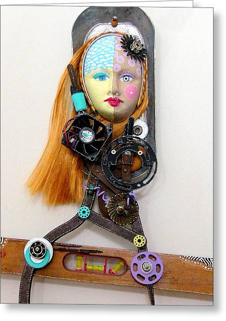 Vintage Sculptures Greeting Cards - Cool And Level Headed Greeting Card by Keri Joy Colestock