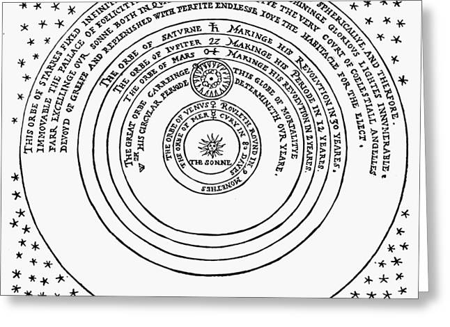 1576 Greeting Cards - Copernican Universe Greeting Card by Granger