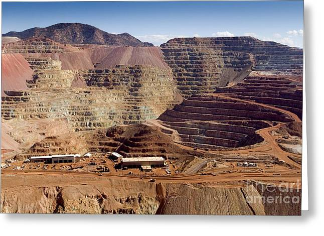 Mine Pit Greeting Cards - Copper Mine, Arizona, Usa Greeting Card by Arno Massee