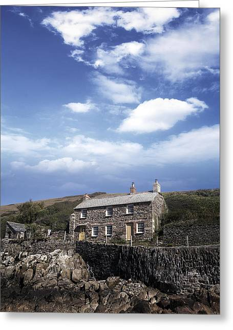 Cottage Photographs Greeting Cards - Cornish cottage Greeting Card by Joana Kruse