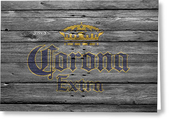 Saloons Greeting Cards - Corona Extra Greeting Card by Joe Hamilton