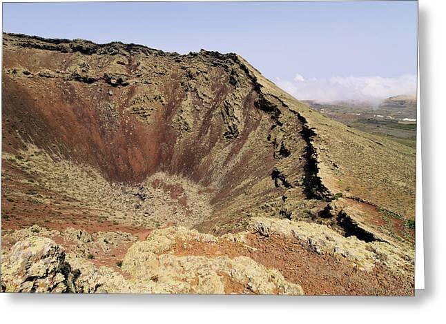 Ocean Landscape Greeting Cards - Corona Volcano on Lanzarote Greeting Card by Karol Kozlowski