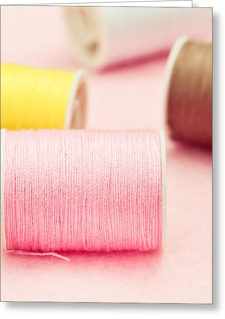 Selection Greeting Cards - Cotton reels Greeting Card by Tom Gowanlock