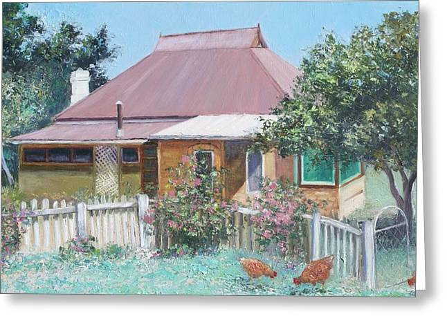 Country Cottage Greeting Cards - Country Cottage Greeting Card by Jan Matson