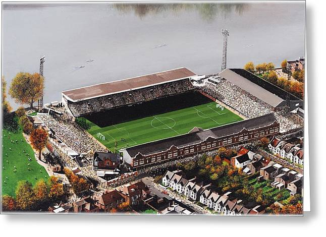 Craven Cottage Greeting Cards - Craven Cottage - Fulham Greeting Card by Kevin Fletcher