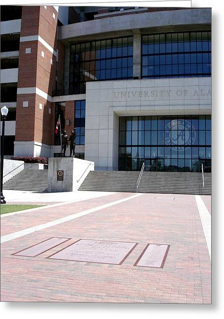 Bryant Denny Greeting Cards - Crimson Walk of Champions Greeting Card by Kenny Glover