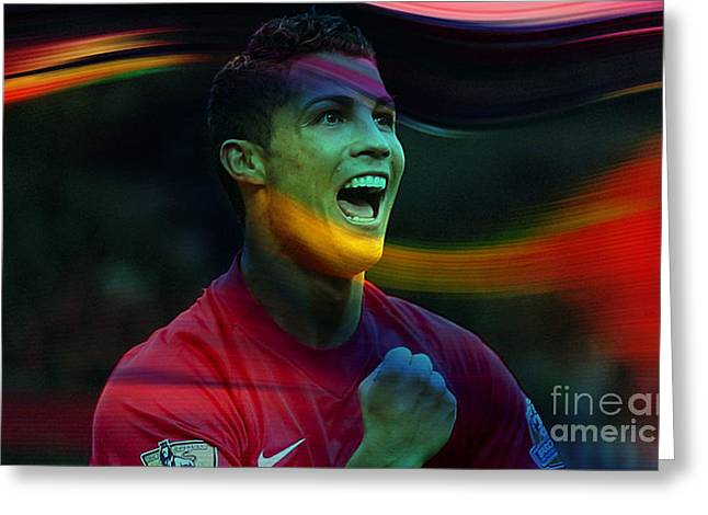 Cristiano Ronaldo Greeting Card by Marvin Blaine