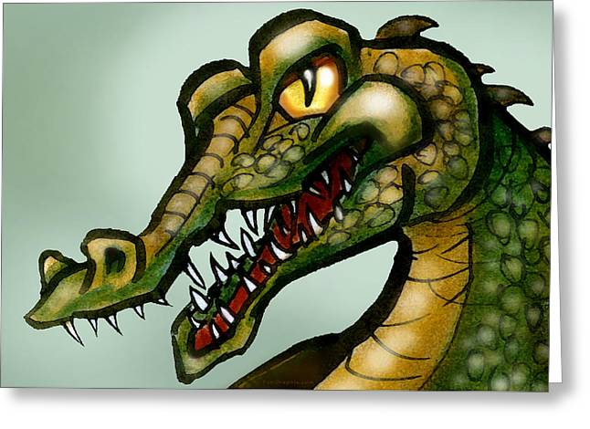 Crocodile Greeting Card by Kevin Middleton