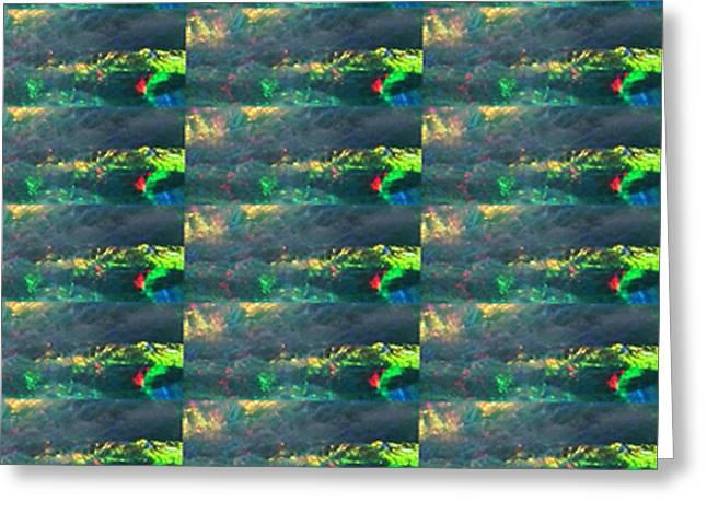 Metal Sheet Greeting Cards - Crystal Stone based Graphic Patterns suitable Medium n Lower Sizes Prints  Popular DOWNLOAD Art mult Greeting Card by Navin Joshi
