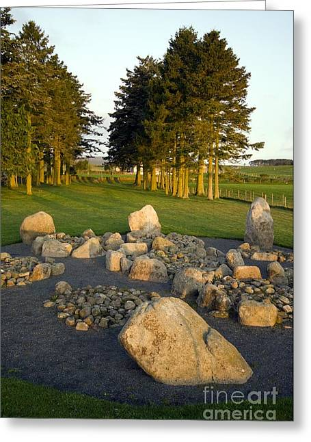Mystical Landscape Greeting Cards - Cullerlie Stone Circle Greeting Card by Duncan Shaw