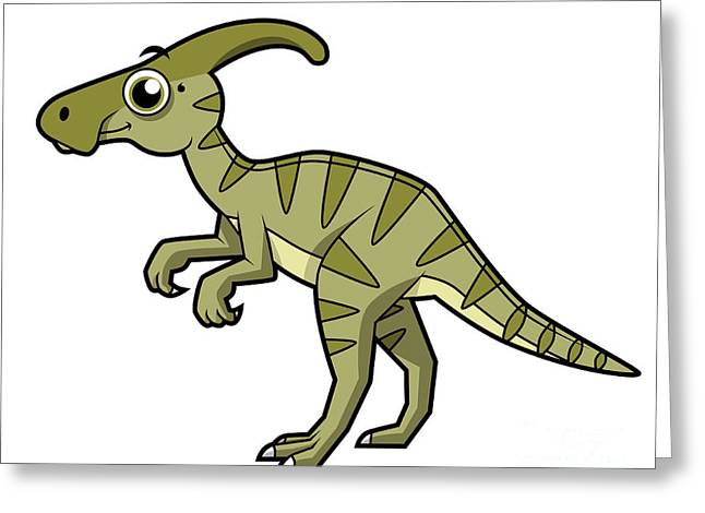 Vector Image Greeting Cards - Cute Illustration Of A Parasaurolophus Greeting Card by Stocktrek Images