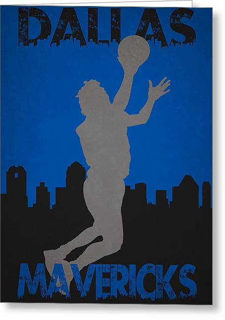 Maverick Greeting Cards - Dallas Mavericks Greeting Card by Joe Hamilton