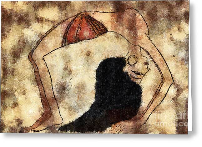 Ballerina Artwork Greeting Cards - dancer of ancient Egypt Greeting Card by Michal Boubin
