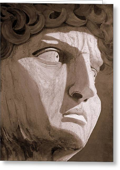 Michelangelo Greeting Cards - David Greeting Card by Karyn Robinson