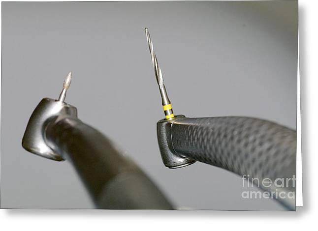 Diagnostics Greeting Cards - Dental Stomatology Equipment Greeting Card by Aleksey Tugolukov