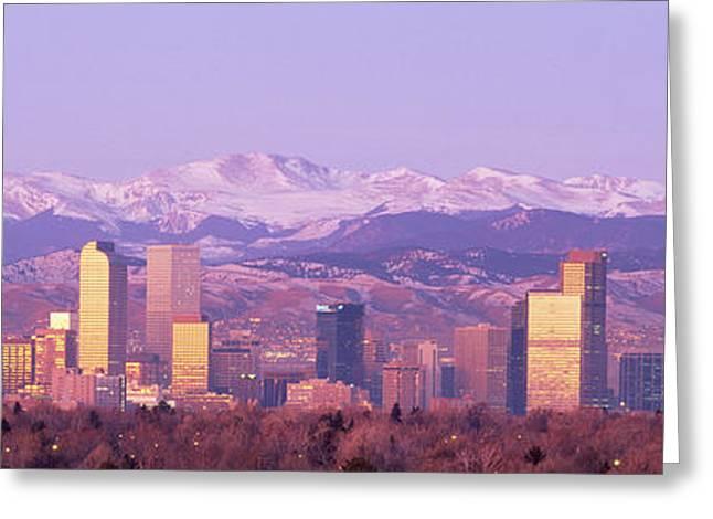 Denver, Colorado, Usa Greeting Card by Panoramic Images