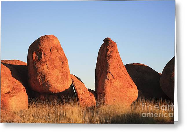 Attraction Photographs Greeting Cards - Devils Marbles Northern Territory Australia Greeting Card by Colin and Linda McKie