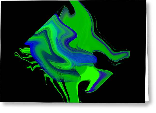 Abstract Digital Paintings Greeting Cards - Diamond 205 Greeting Card by J D Owen