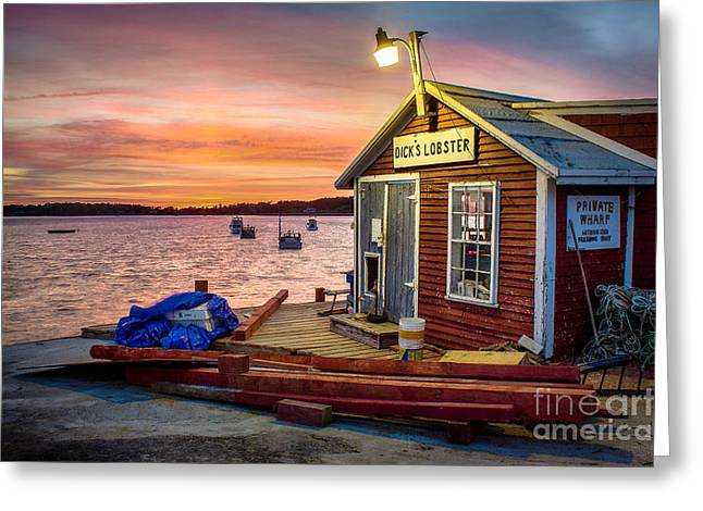Harpswell Greeting Cards - Dicks Lobster Greeting Card by Benjamin Williamson