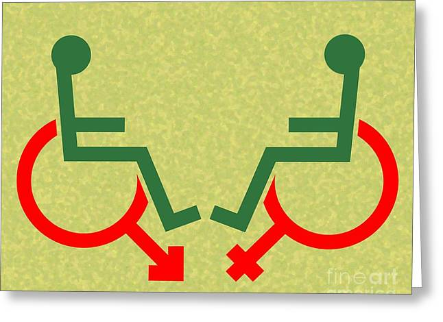 Loving Self Greeting Cards - Disability Sexuality, Conceptual Artwork Greeting Card by Stephen Wood