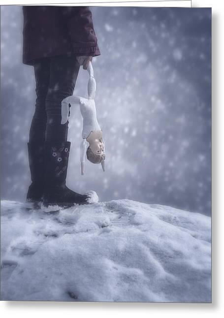 Gloomy Winter Greeting Cards - Doll Greeting Card by Joana Kruse