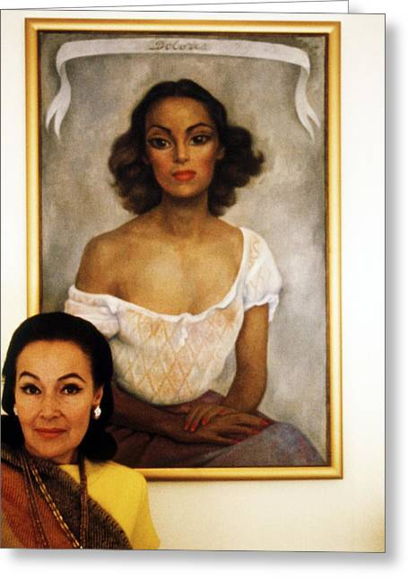 Dolores Greeting Cards - Dolores del Rio Greeting Card by Silver Screen