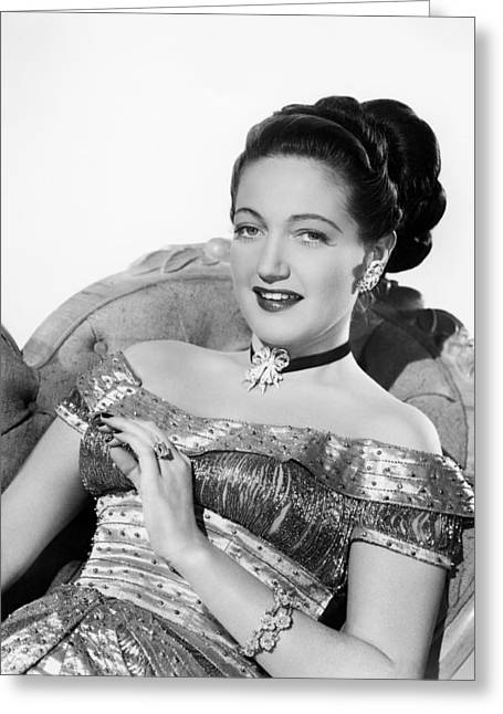 Dorothy Greeting Cards - Dorothy Lamour Greeting Card by Silver Screen