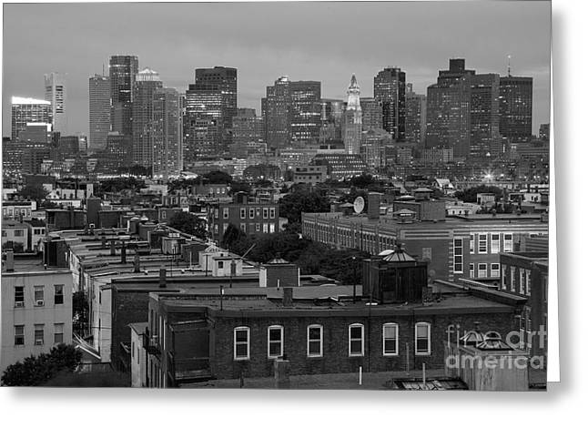 Marriot Greeting Cards - Downtown Boston Massachusetts Skyline Greeting Card by Bill Cobb
