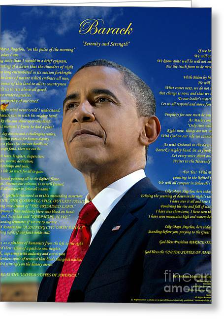 Recently Sold -  - Barack Greeting Cards - Dr. Sterling Original Poetry Greeting Card by Frederick Glover