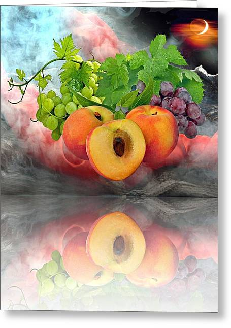 Grape Leaves Greeting Cards - Dream Greeting Card by Manfred Lutzius