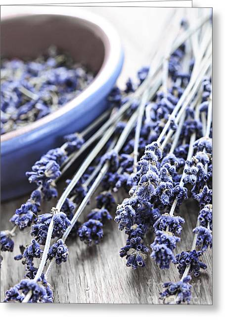 Organic Photographs Greeting Cards - Dried lavender Greeting Card by Elena Elisseeva